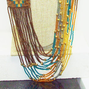 Langley Indian Loom Necklace pin up view