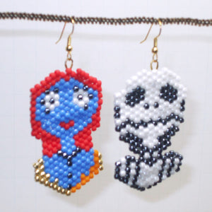 Alina Jack and Sally Beaded Earrings close view