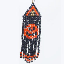 Load image into Gallery viewer, Belinda Indian Fringe Halloween Earrings single view