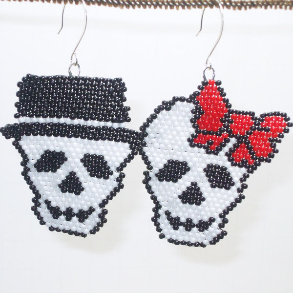 Bonnie Brick Stitch Halloween Earrings relevant view