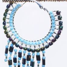 Load image into Gallery viewer, Calloipe Hoop Fringe Beaded Earrings close view