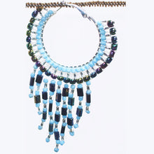 Load image into Gallery viewer, Calloipe Hoop Fringe Beaded Earrings single view