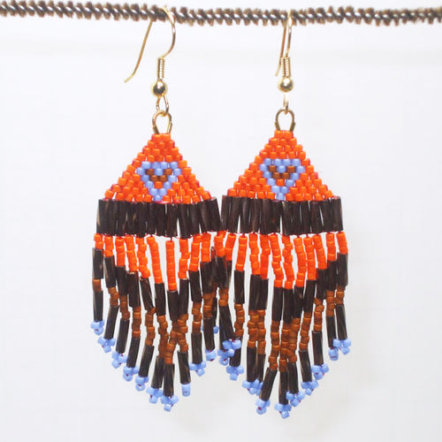 Calixta Indian Fringe Earrings relevant view