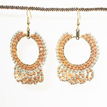 Load image into Gallery viewer, Ellan Hoop Beaded Earrings front relevant view