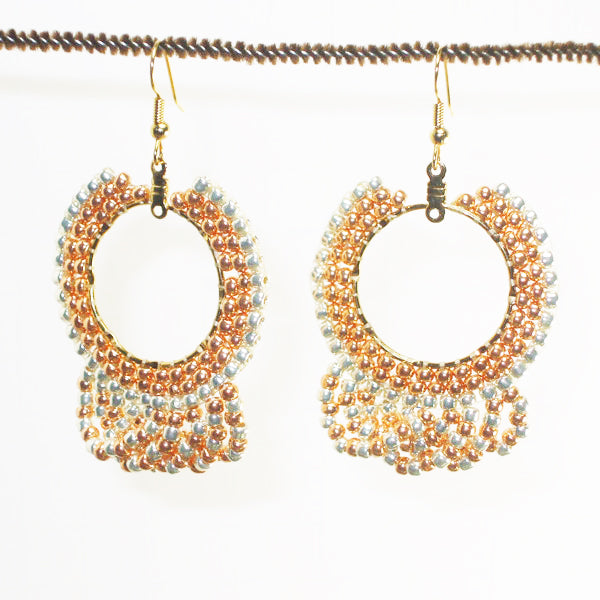 Ellan Hoop Beaded Earrings front relevant view