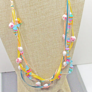 Derwen Beaded Kumihimo Necklace blow up view