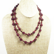 Load image into Gallery viewer, Nadira Rhodolite Garnet Necklace relevant view