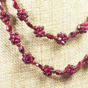 Nadira Rhodolite Garnet Necklace blow up view