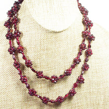 Load image into Gallery viewer, Nadira Rhodolite Garnet Necklace pin up view