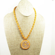 Load image into Gallery viewer, Daere Beaded Mandala Rope Necklace front relevant view