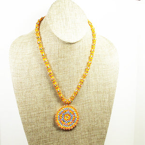 Daere Beaded Mandala Rope Necklace front relevant view