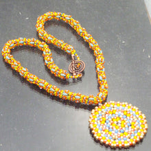 Load image into Gallery viewer, Daere Beaded Mandala Rope Necklace flat view