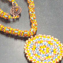 Load image into Gallery viewer, Daere Beaded Mandala Rope Necklace clasp view
