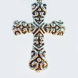 Badia Charm Cross Pendant Necklace back view