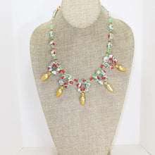 Load image into Gallery viewer, Valonia Christmas Lights Necklace relevant front view