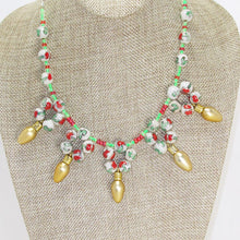 Load image into Gallery viewer, Valonia Christmas Lights Necklace close up front view