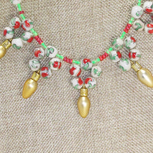 Load image into Gallery viewer, Valonia Christmas Lights Necklace blow up view
