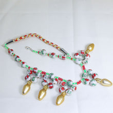 Load image into Gallery viewer, Valonia Christmas Lights Necklace flat view