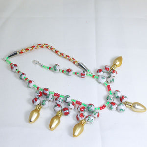 Valonia Christmas Lights Necklace flat view