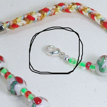 Load image into Gallery viewer, Valonia Christmas Lights Necklace clasp view