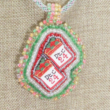 Load image into Gallery viewer, Hadriane Christmas Bead Embroidery Calendar blow up view front