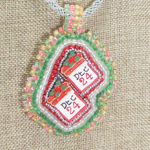 Hadriane Christmas Bead Embroidery Calendar blow up view front