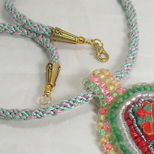 Hadriane Christmas Bead Embroidery Calendar clasp view