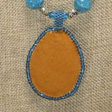 Load image into Gallery viewer, Rachel Bead Embroidery Cabochon Pendant Necklace back view