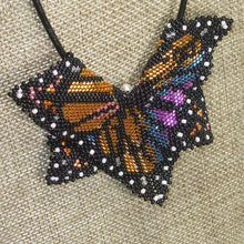 Load image into Gallery viewer, Jewelry by Sande Gene Monarch Butterfly Peyote Pendant