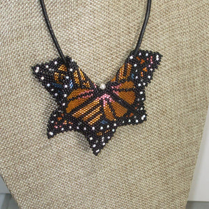 Jewelry by Sande Gene Monarch Butterfly Peyote Pendant