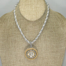 Load image into Gallery viewer, Tabitha Beaded Cameo Pendant Necklace front relevant view