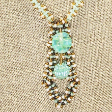 Load image into Gallery viewer, Vachya Seed Bead Charm Pendant Necklace pin up view