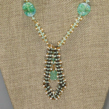 Load image into Gallery viewer, Vachya Seed Bead Charm Pendant Necklace back close view