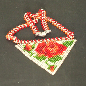 Yachne Beaded Pendant Necklace flat view