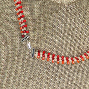 Yachne Beaded Pendant Necklace clasp view