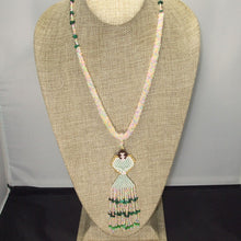 Load image into Gallery viewer, Ulani Beaded Pendant Necklace front relevant view