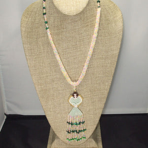 Ulani Beaded Pendant Necklace front relevant view