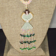 Load image into Gallery viewer, Ulani Beaded Pendant Necklace front bug eye view
