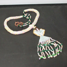 Load image into Gallery viewer, Ulani Beaded Pendant Necklace flat view