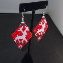 Load image into Gallery viewer, Mabel Christmas Reindeer Earrings relevant view