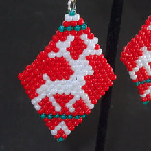 Load image into Gallery viewer, Mabel Christmas Reindeer Earrings single view