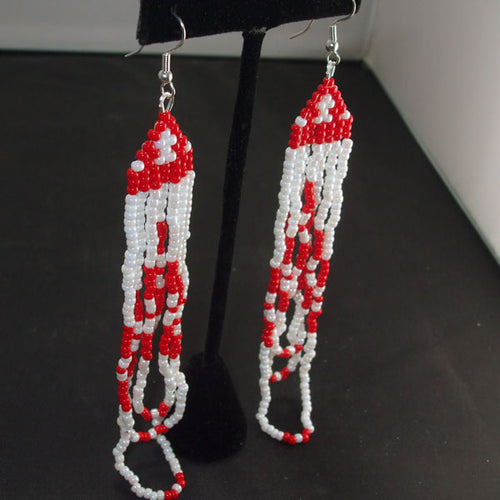 Nadda Christmas Fringe Earrings relevant view