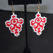 Load image into Gallery viewer, Obelia Christmas Trellis Earrings