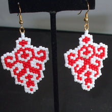 Load image into Gallery viewer, Obelia Christmas Trellis Earrings relevant view