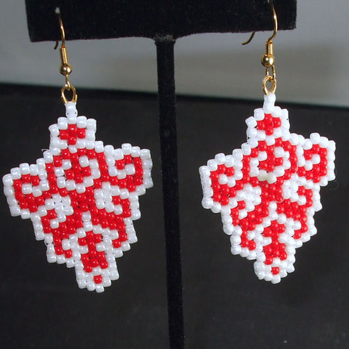 Obelia Christmas Trellis Earrings relevant view