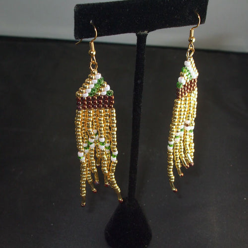 Qadesh Indian Fringe Earrings relevant view