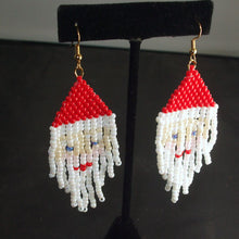 Load image into Gallery viewer, Radhika Christmas Fringe Earrings relevant view