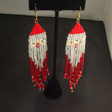 Load image into Gallery viewer, Sadzi Christmas Fringe Earrings relevant view