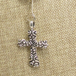 Badia Charm Cross Pendant Necklace front charm view