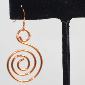 Tacita Geometric Wire Earrings single view